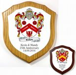 Coat of Arms Shield Family Crest 7 inch Plaque PERSONALISED, ref FCLP